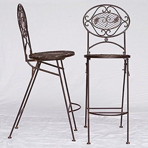 Bar Sedie Mobili da giardino in metallo Bistro Set di mobili marrone 2alta Sedia Bar Cucina Bar