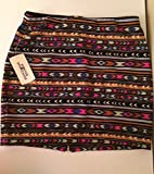 Forever 21 Short Skirt Small Black / Fuchsia / Tribal