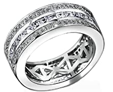 buy Beydodo 18K Gold Plated Women'S Ring (Promise Ring) Hollow Shaped Cubic Zirconia Size 5 White Gold