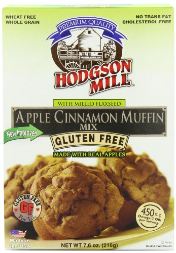 Hodgson Mill Apple Cinnamon Muffin Mix, Gluten Free, 7.6-Ounce Boxes (Pack of 6)