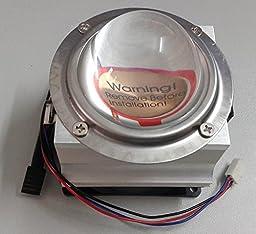 Led World 66mm led lens+ Aluminium HeatSink Cooling Fan for 20W -100W High Power Led