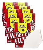 Kalita コーヒーフィルター 102濾紙 【2~4人用】 40枚入り ホワイト 10箱セット #13039