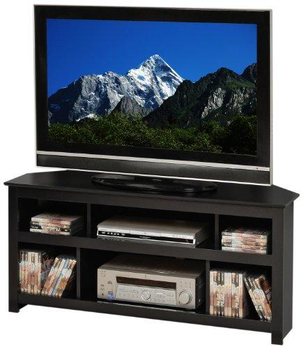 Prepac Black Vasari Corner Flat Panel Plasma/LCD TV Console Stand image
