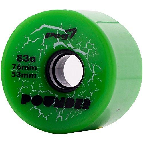 PEG-Pounder-76mm-x-53mm-83a-Harder-Racing-Downhill-Longboard-Wheels