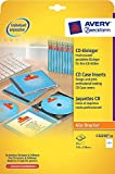 Avery Zweckform, C32250-25, 25 Blatt, CD-Einleger spezialbeschichtet, mikroperforiert, Inkjet, +Laser+Kopierer geeignet, 185g, 151 x 118 mm