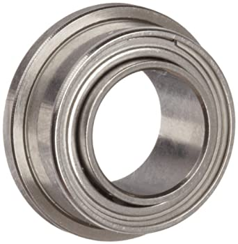 Dynaroll Precision Miniature Ball Bearing, ABEC-5, Double Shielded, Flanged, Extended Inner Ring, Stainless Steel