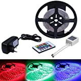Jago STRF5m-5050ND/MT24 LED Light Strips 16.5 ft/5 m - 300 LEDs + 24 control keys - w/ power supply - non water-proof