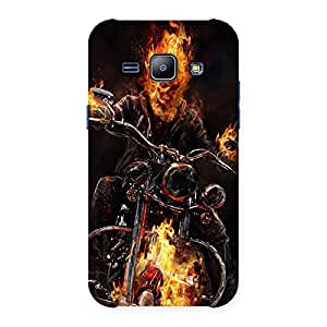 Enticing Ghost Multicolor Rider Back Case Cover for Galaxy J1