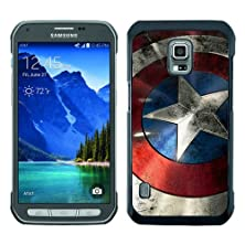 buy Beautiful And Unique Designed Case For Samsung Galaxy S5 Active With Captain America Shield Black Phone Case