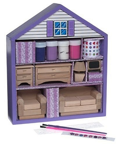 Decorate Your Own Dollhouse Furniture - Living Room 6-piece Set