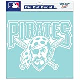 Pittsburgh Pirates MLB Vinyl Die Cut Window Decal Auto Car Logo White 8x8 Sticker Baseball Licensed Team Logo at Amazon.com