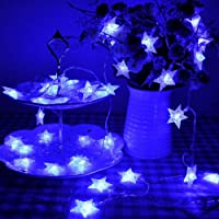 Lychee Operated Outdoor and Indoor Battery Particle Five-pointed Star String Lights With 2 Functions for Christmas Party 13 ft 4m 40 LED by Lychee