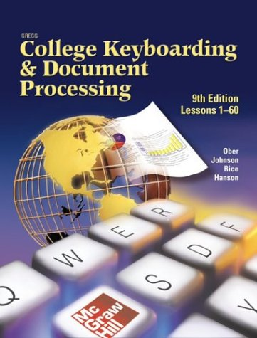 Gregg College Keyboarding & Document Processing (Gdp), Lessons 1-60, Home Version, Kit 1, Word 2002