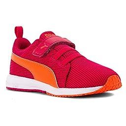 PUMA Carson Runner V Kids Sneaker (Toddler/Little Kid/Big Kid) , Rose Red/Fluorescent Peach, 10.5 M US Little Kid