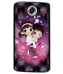 Printvisa 2D Printed Love Designer back case cover for Motorola Nexus 6 - D4336