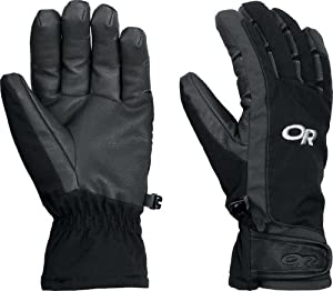Outdoor Research Women's Extravert Gloves (Black/Charcoal, Large)