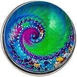 Morella Unisex Click-Button Druckknopf Psychedelic Art