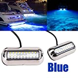 Stainless Steel 27LED Blue Underwater Pontoon Marine/Boat Transom Lights