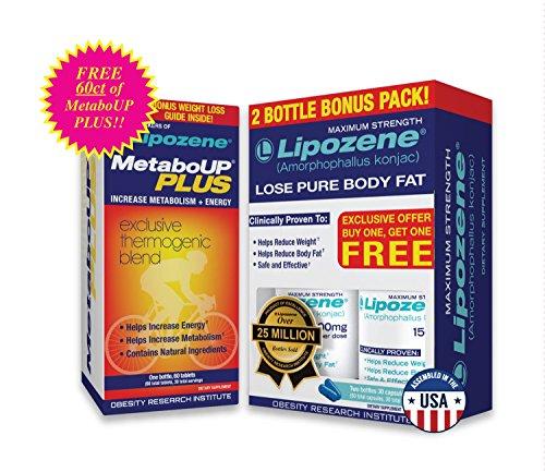 Lipozene Weight Loss Pills Buddy Pack and MetaboUp Plus