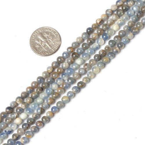 4mm round gemsone natural kyanite beads strand 15