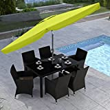 CorLiving PPU-240-U Tilting Patio Umbrella, Lime Green