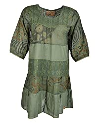Beautiful Clothes Women's Regular Fit Dress(BCS 31_M,green,M )