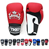 Top King Gloves Color Black White Red Blue Gold Size 8, 10, 12, 14, 16 oz Design Air, Empower, Superstar, and more for Training and Sparring Muay Thai, Boxing, Kickboxing, MMA (Air - White/Red/Black 16 oz)