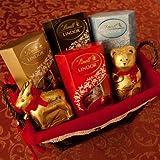Lindt Christmas Chocolate Hamper - with Milk, Assorted, Dark, Cookies & Cream Truffles, Lindt Teddy and Reindeer