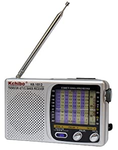 12 Band World Radio AM/FM Shortwave World Band Receiver SW 1-8 - TV1 TV2 Reception
