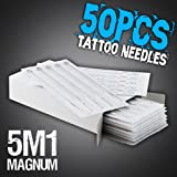 50pcs 5M1 Disposable Sterile Tattoo Needles 5 Mag Magnum Supply Set