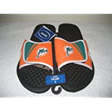 Miami Dolphins 2013 NFL Shower Slide Flip Flop Sandals Size Small 6-7