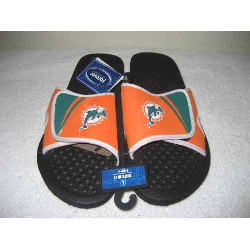 7964f45d295a7 Miami Dolphins 2013 NFL Shower Slide Flip Flop Sandals Size Small 6 ...
