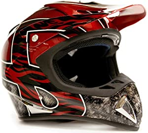 Adult Motocross Helmet ATV Dirt Bike Motorcycle Red by Typhoon