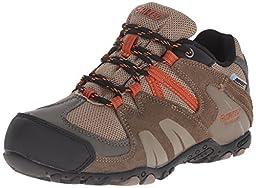 Hi-Tec Aitana Low Waterproof JR Hiking Shoe (Toddler/Little Kid/Big Kid), Smokey Brown/Taupe/Red Rock, 3 M US Little Kid