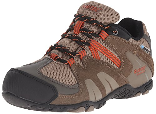 Hi-Tec Aitana Low Waterproof JR Hiking Shoe (Toddler/Little Kid/Big Kid), Smokey Brown/Taupe/Red Rock, 12 M US Little Kid
