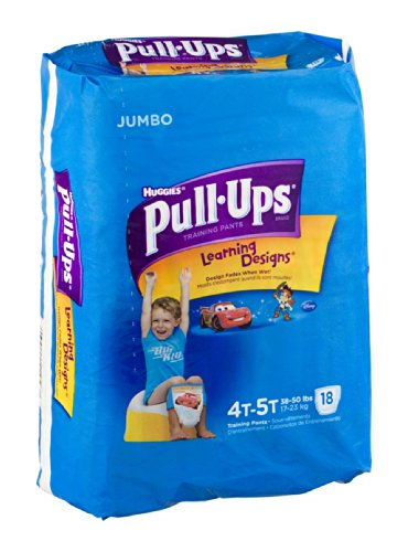 Huggies Pull-Ups Learning Designs Training Pants 4T-5T 18 CT (Pack of 4) - 1