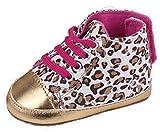 EOZY Dise�o De Leopardo Zapatos Patuco Para Beb� Cuero Con Cordones Color Oro Dorado 6-12 Meses