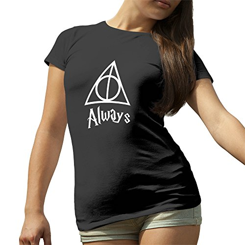 Always Triangle Harry Potter Artwork Nero T-Shirt maglietta per le donne Medium