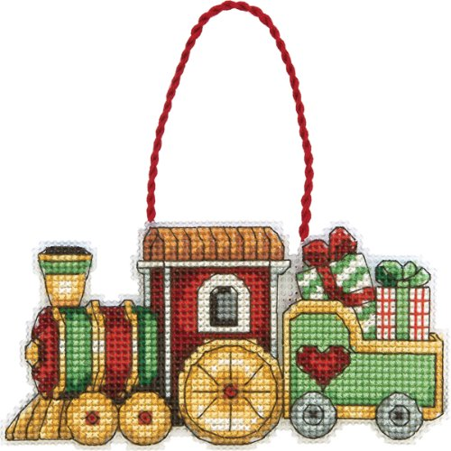 Dimensions Counted Cross Stitch, Train Ornament