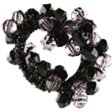 Caravan Clear And Multiple Color Faceted Beads Creates This Grand Elastic Ponytail