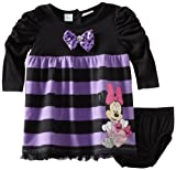 Disney Baby-girls Infant 2 Piece Striped Minnie Mouse Dress