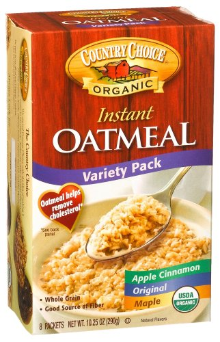 Country Choice Organic Instant Oatmeal, Variety Pack