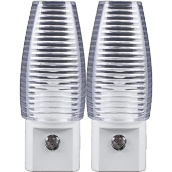 """""""ABC Products"""" ~ 2-Pack Plug-in - Incandescent Night Light (Automatic Dusk To Dawn)"""