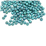 Foppish Mart Blue Circular Wooden Beads