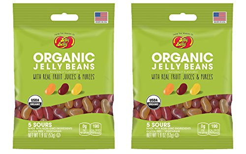 Jelly Belly Organic Sour Jelly Beans 1.9 Ounce Bag (Pack of 2) (Starburst Jelly Beans Sour compare prices)