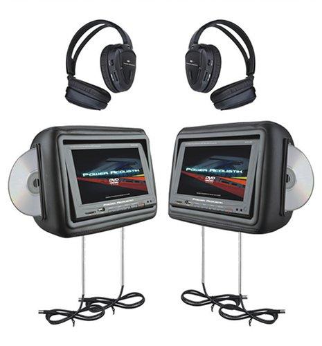 Power Acoustik HDVD-9BK 8.8-Inch Pre-Loaded Universal Headre