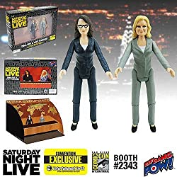 SNL Weekend Update Tina & Amy 3 1/2-Inch Figures -Con. Excl.