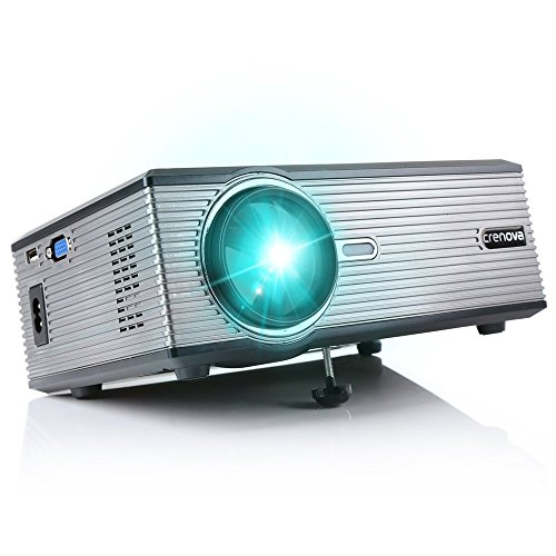Mini projector crenova xpe470 video home outdoor indoor for Mirror mini projector