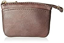 David King & Co. Zip Coin Purse Small, Cafe, One Size