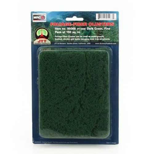 JTT Scenery Products Foliage-Fiber Cluster: Dark Green, Fine
